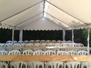 אוהל להשכרה כולל כסאות